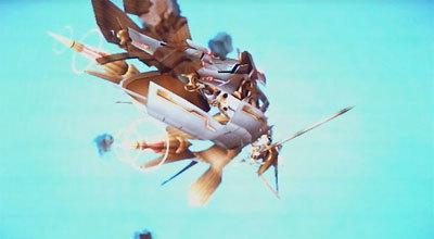 ゼノブレイド フィオルを追って落下するシュルク