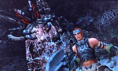 ゼノブレイド 巨大グモと戦うライン